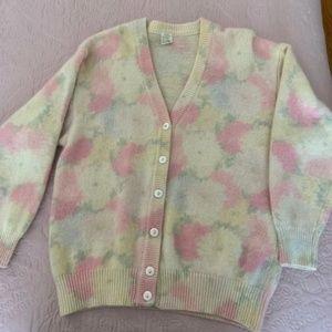 Sweaters - Italian made cardigan cashmere/angora Size Large